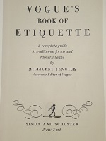 Vintage Saturday: Rules for a Girl On Her Own, Vogue's Book of Etiquette 1948